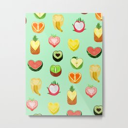 Fruit hearts Metal Print