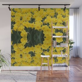 SPRING YELLOW DAFFODILS GARDEN DESIGN Wall Mural