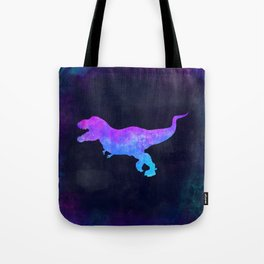 T-REX IN SPACE // Dinosaur Graphic Art // Watercolor Canvas Painting // Modern Minimal Cute Tote Bag