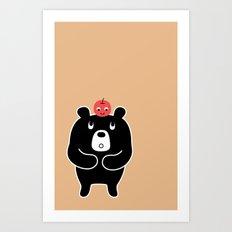Apple Bear Art Print