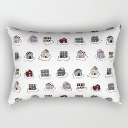 The Holiday Village Rectangular Pillow