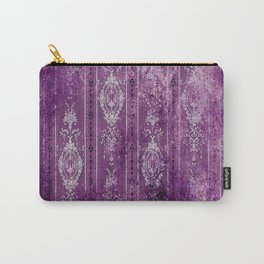 Damask - Deep Purples & White - Boho Carry-All Pouch