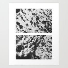 Ocean from Above 3 Art Print