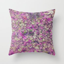 In Bloom on Steroids Throw Pillow