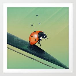 Oh, Bugger (Spring Version) Art Print