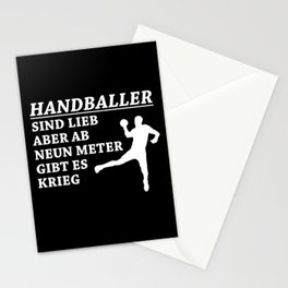 Handball Players Are Nice People Stationery Cards