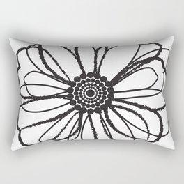 Anemone - Monotone Perennial Rectangular Pillow
