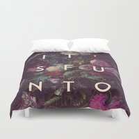 finland Duvet Covers featuring lose and to pretend by Hans Eiskonen