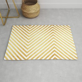 Gold and marble art VII Rug