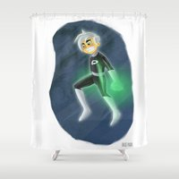 danny ivan Shower Curtains featuring Danny Phantom by David Pavon