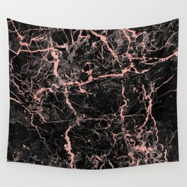 Marble Rose Gold - Someone Wall Tapestry