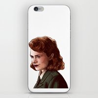peggy carter iPhone & iPod Skins featuring Miss Carter by Kelslk