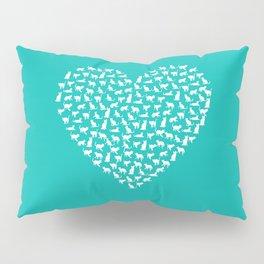 I Heart Cats Pillow Sham