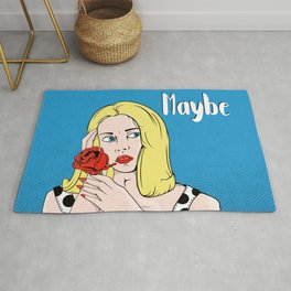 Retro Poster Dating Rug