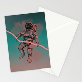Fallen astronaut Stationery Cards