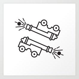 Cannonball! Art Print
