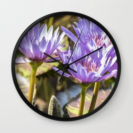 Lavender Lilies Wall Clock