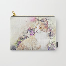 Victorian Cat Carry-All Pouch