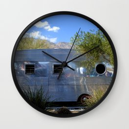 VINTAGE - Cool Classic Vintage Chrome Trailer Wall Clock