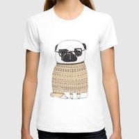 pug T-shirts featuring Pug  by Phillippa Lola