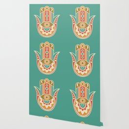 Colorful Hamsa Hand Wallpaper