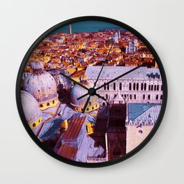 Colorful vibrant San Marco Square in Venice, Italy Wall Clock