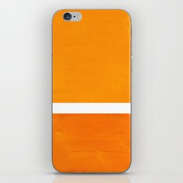 Antique Yellow  & Yellow Ochre Mid Century Modern Abstract Minimalist Rothko Color Field Squares iPhone Skin