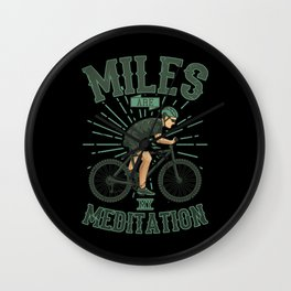 MY MEDITATION Funny Cycling Gift Mountain Biker Wall Clock