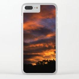 dawn sky Clear iPhone Case