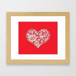 Heart, Lace Framed Art Print