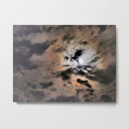the storm after the moon Metal Print