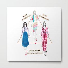 Fashionary 10 Metal Print