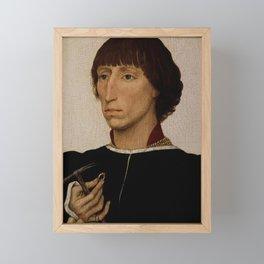 Rogier van der Weyden - Portrait of Francesco d'Este Framed Mini Art Print