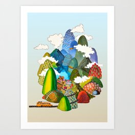The ♥ is curved like a road through the mountains Art Print