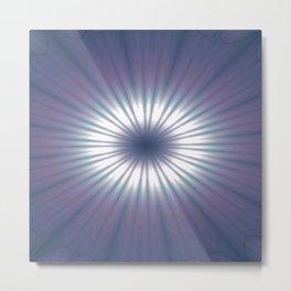 Sun Pole Starburst Mandala 3 Metal Print