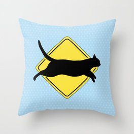 Cats Can Run Up to 30 MPH Throw Pillow