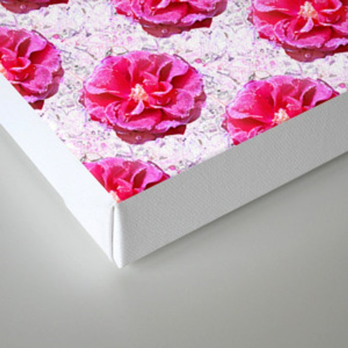 Frozen Roses Canvas Print