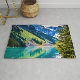 Tranquil Waters - Lake Louise in Banff, Alberta Canada Rug