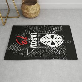 Friday 13. Jason portrait Rug