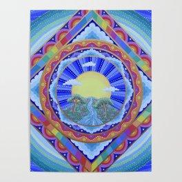 Beautiful World Mandala Poster