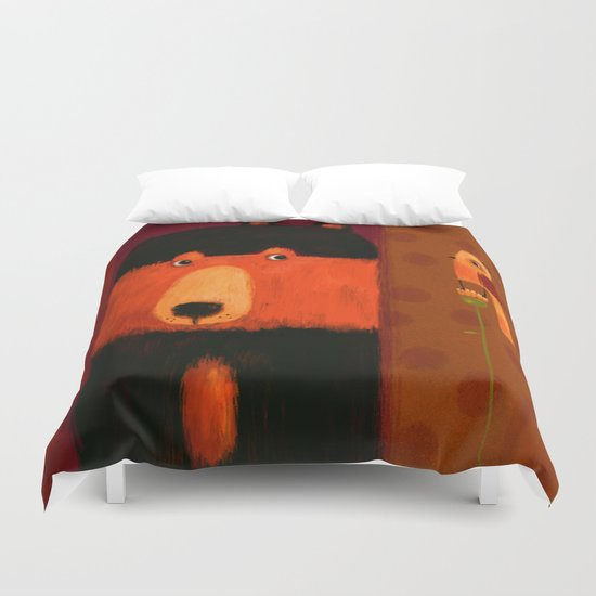 SIDE GLANCE Duvet Cover