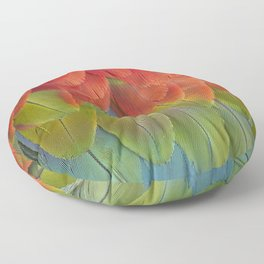Macaw Feathers. Floor Pillow