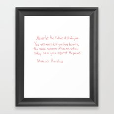 Marcus Aurelius Quote Framed Art Print