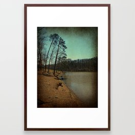 Riverbank Curve Framed Art Print