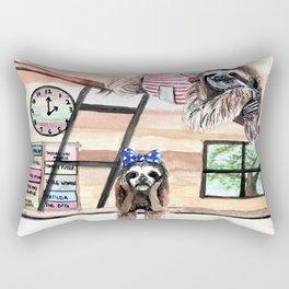 Peek into a treehouse Rectangular Pillow