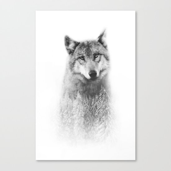 The Wolf and the Forest Canvas Print