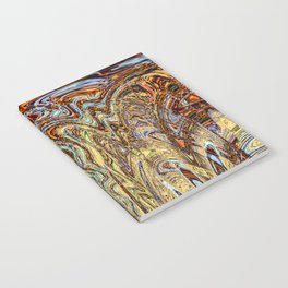 Scramble - Digital Abstract Expressionism Notebook