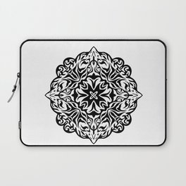 Polynesian style tattoo mandala Laptop Sleeve