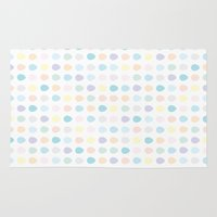 polkadot Area & Throw Rugs featuring Mini Pastel Polkadot by chelsea dawn brown