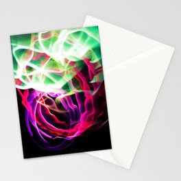 Glowing Neon Lights (Color) Stationery Cards